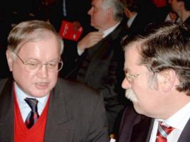 Ludwig Stiegler mit Hans Lohmeier