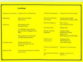 Programm des Festaktes