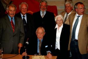 Fritz Geisperger, Hans Jürgen Wischnewski, Reinhold Perlak, Helene Joringer, Erhard Lenz