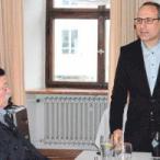 SPD-Europa-Abgeordneter Ismael Ertug (r.) referierte auf Einladung der SPD über das umstrittene Freihandelsabkommen TTIP.