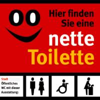 Aufkleber Nette Toilette